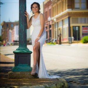 Wedding dress used as prom dress